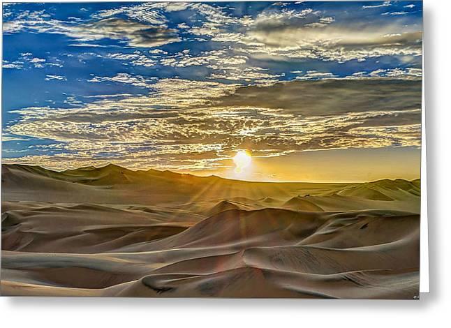 Sunset Greeting Card by Dado Molina