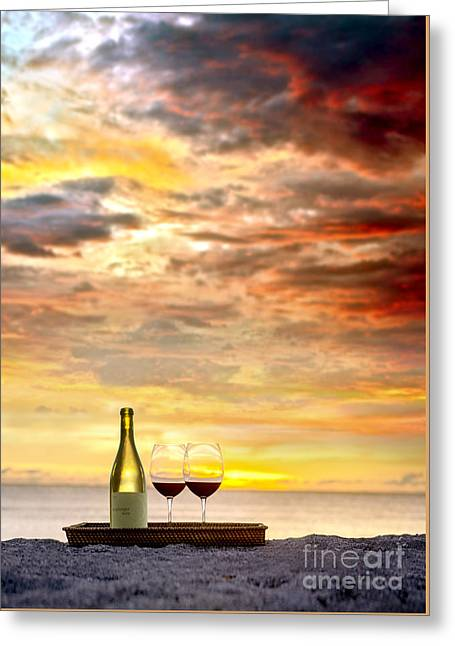Merlot Greeting Cards - Sunset Devine Greeting Card by Jon Neidert