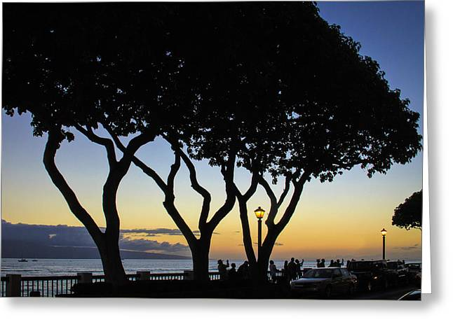 Lahaina Greeting Cards - Sunset Dream in Hawaii Greeting Card by Roger Walk