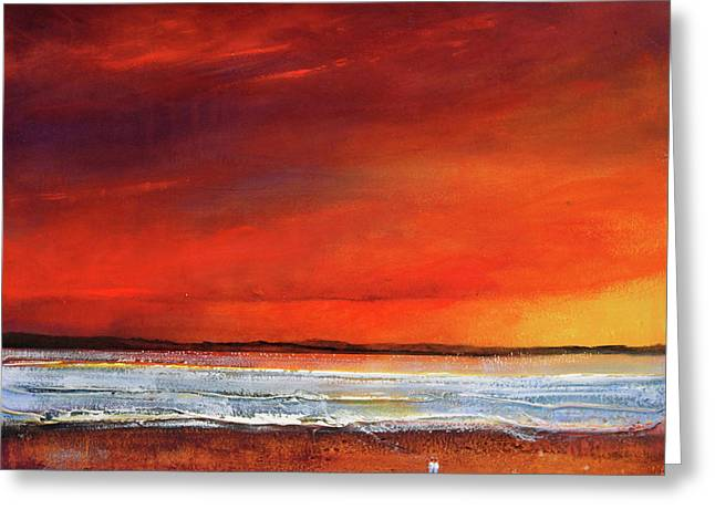 Oranage Greeting Cards - Sunset Dreamin Greeting Card by Toni Grote
