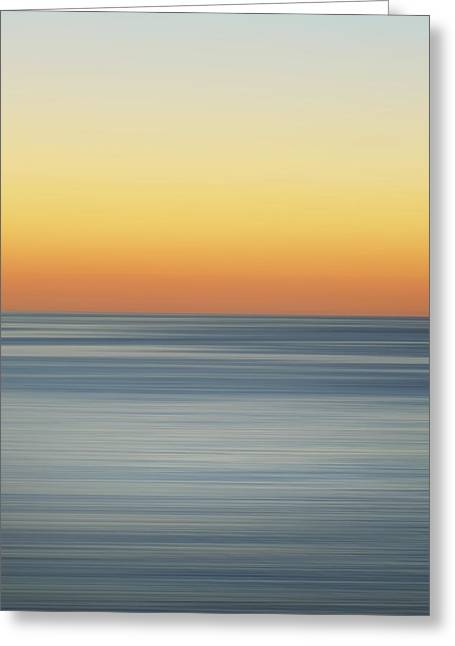 Abstract Beach Landscape Greeting Cards - Sunset Dreams Greeting Card by Az Jackson