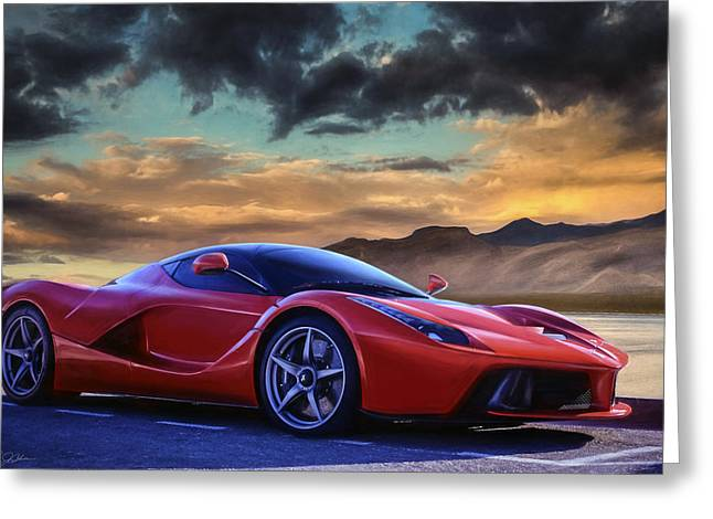 Sunset Drive Greeting Card by Peter Chilelli