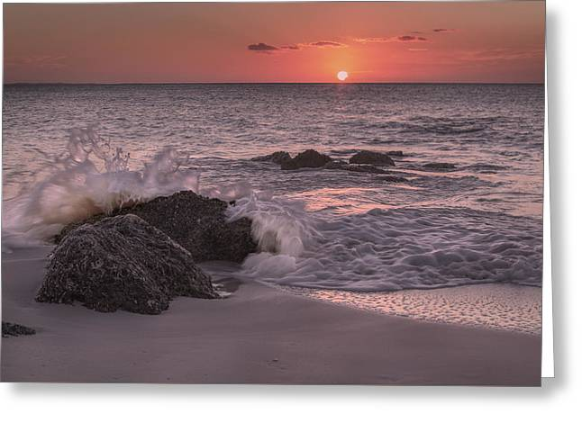 Sunset Escape Greeting Card by Betsy Knapp