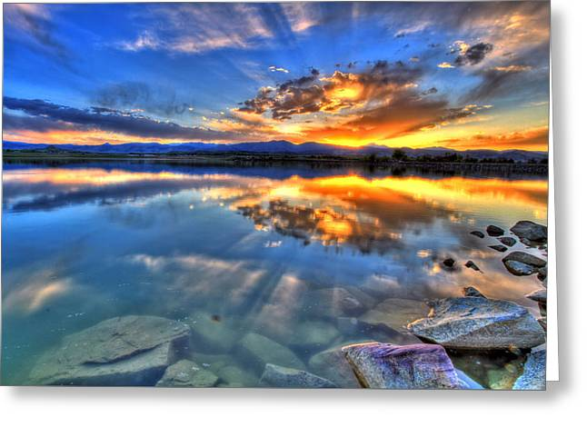 Fort Collins Greeting Cards - Sunset Explosion Greeting Card by Scott Mahon