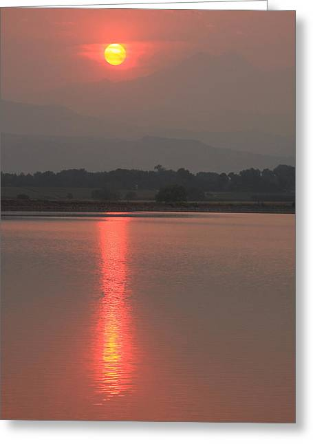 Sunset Fire Greeting Card by James BO  Insogna