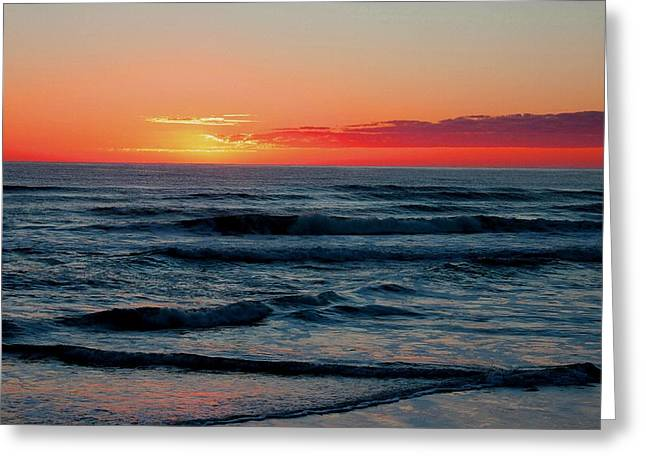 Abstract Digital Pastels Greeting Cards - Sunset For Mia H b Greeting Card by Gert J Rheeders