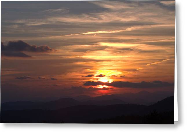 Sunset From The Blue Ridge Parkway Ll Greeting Card by John Harmon