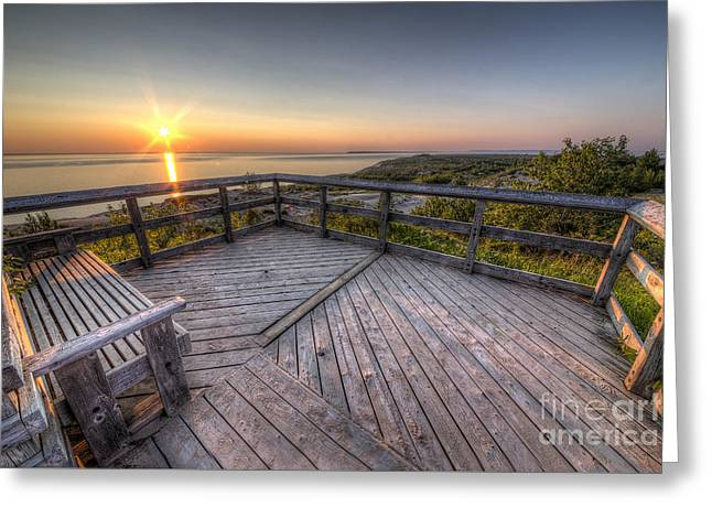 Scenic Drive Greeting Cards - Sunset from the Deck Greeting Card by Twenty Two North Photography
