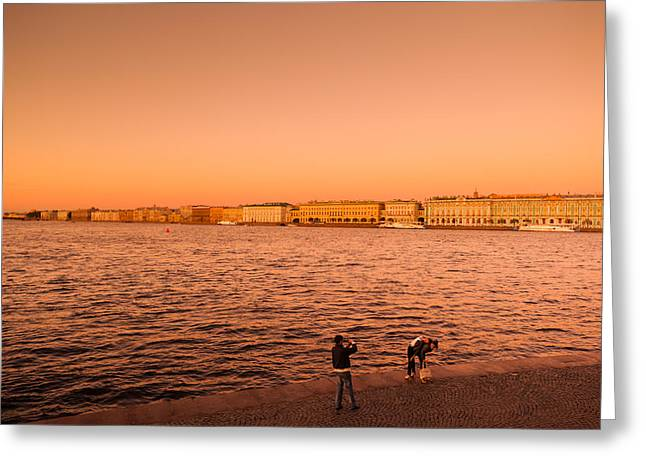 Sunset From The Neva River, State Greeting Card by Panoramic Images