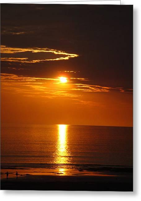 Sunset Glory Greeting Card by Kelly Jones
