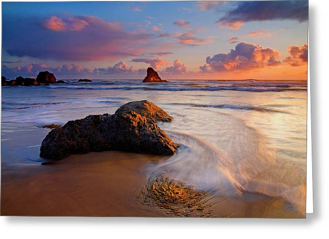 Pacific Greeting Cards - Sunset Glow Greeting Card by Mike  Dawson