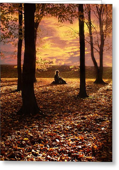 Pensive Greeting Cards - Sunset II Greeting Card by Wojciech Zwolinski