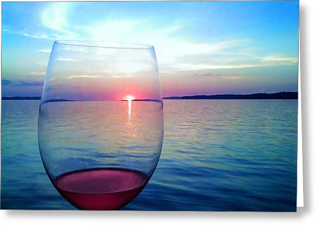 Holdorf Greeting Cards - Sunset In A Glass Greeting Card by Kurt Holdorf