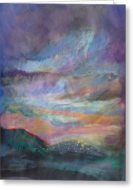 D Pastels Greeting Cards - Sunset in Efrat Greeting Card by Bryna La