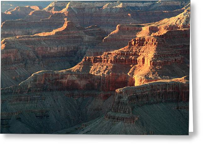 The Grand Canyon Greeting Cards - Sunset in Grand Canyon Greeting Card by Pierre Leclerc Photography