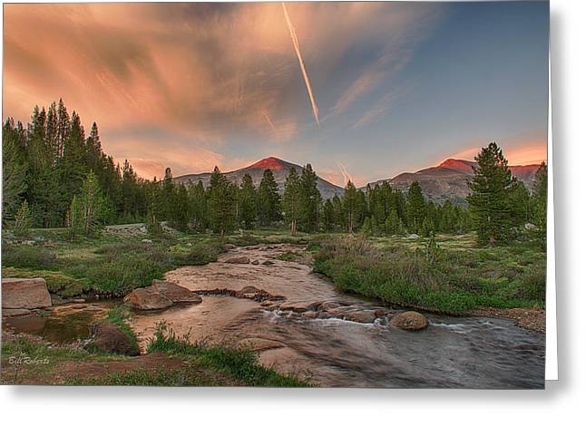 Sunset In High Sierra Greeting Card by Bill Roberts