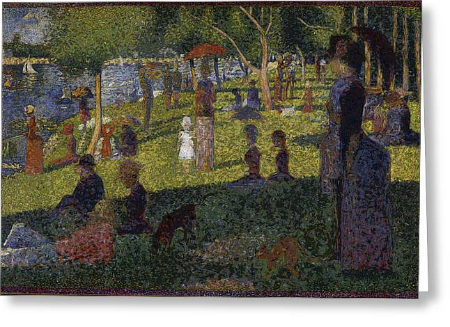 Sunday On La Grande Jatte Greeting Cards - Sunset in Paris Greeting Card by David Bridburg