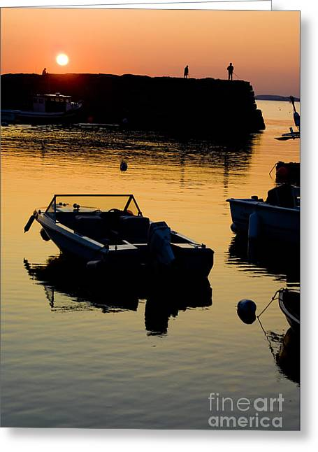 New England Ocean Greeting Cards - Sunset in Rockport Massachusetts Greeting Card by Anthony Totah