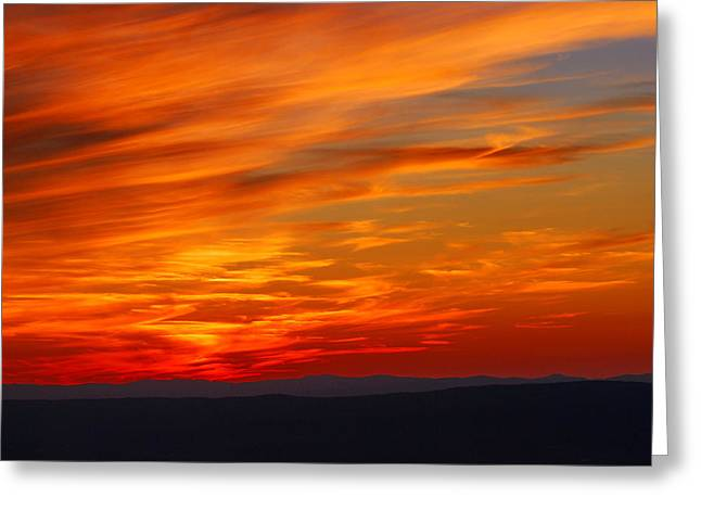 Sunset Greeting Cards Greeting Cards - Sunset in Shenandoah National Park Greeting Card by Francie Davis