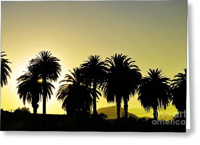 Bruster Greeting Cards - Sunset In SoCal Greeting Card by Clayton Bruster