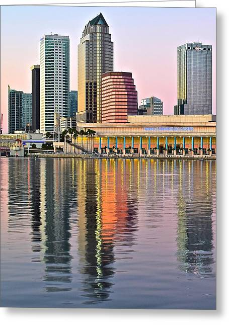 Baseball Stadiums Greeting Cards - Sunset in Tampa Greeting Card by Frozen in Time Fine Art Photography