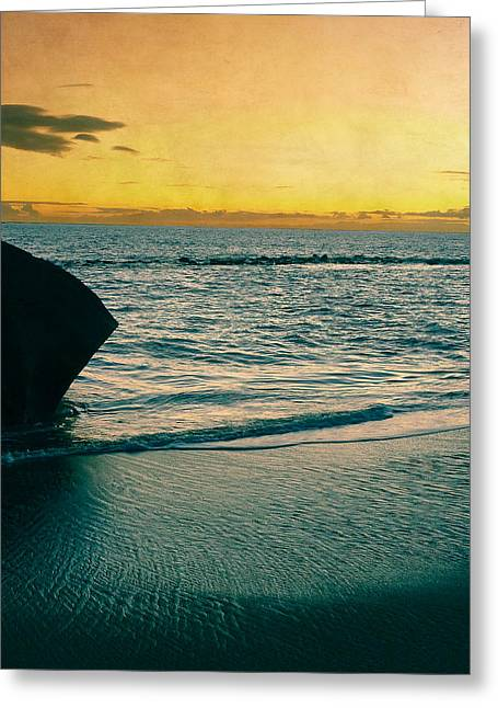 Beach Photography Greeting Cards - Sunset in Tenerife Greeting Card by Loriental Photography