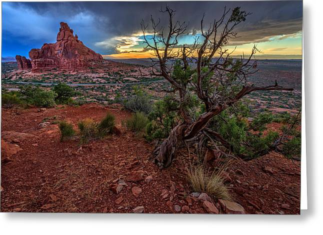 Monoliths Greeting Cards - Sunset In The Garden of Eden Greeting Card by Rick Berk