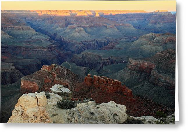 The Grand Canyon Greeting Cards - Sunset in the Grand Canyon Arizona Greeting Card by Pierre Leclerc Photography