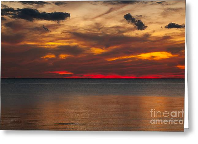Sunset Greeting Cards Greeting Cards - Sunset in the Storm Greeting Card by Lowell Anderson