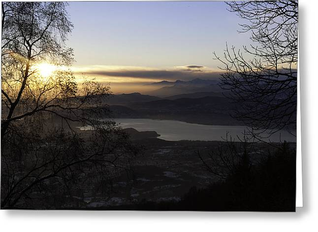 Sunset In Varese Greeting Card by Andrea Visconti