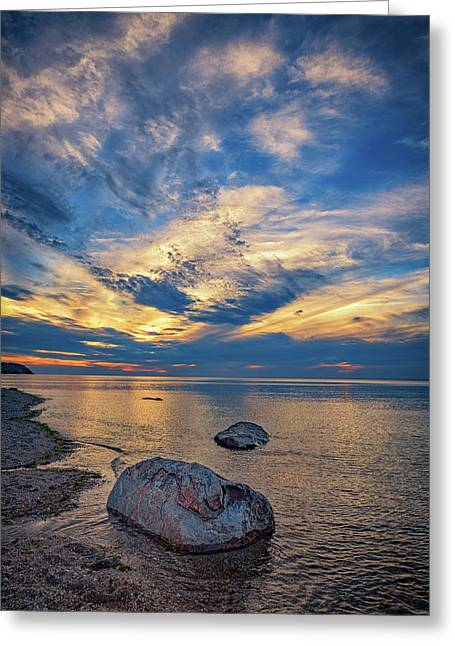 Sunset In Wading River Greeting Card by Rick Berk