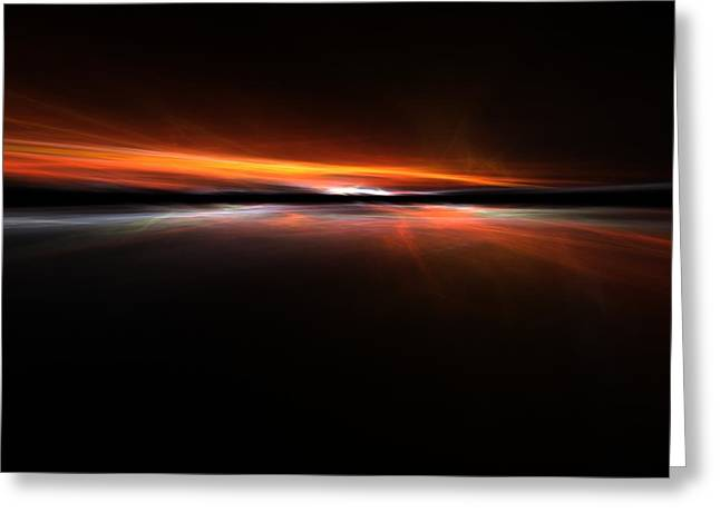 Sunset Abstract Greeting Cards - Sunset Island Greeting Card by Stefan Kuhn