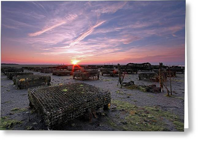Sunset Greeting Card by Juergen Roth