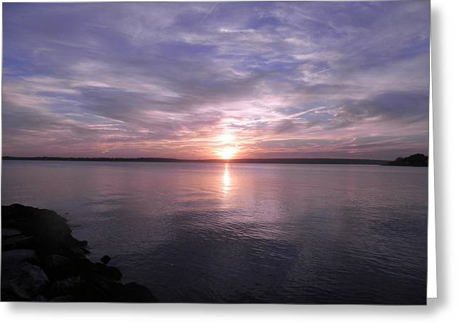 Kate Gallagher Greeting Cards - Sunset Greeting Card by Kate Gallagher