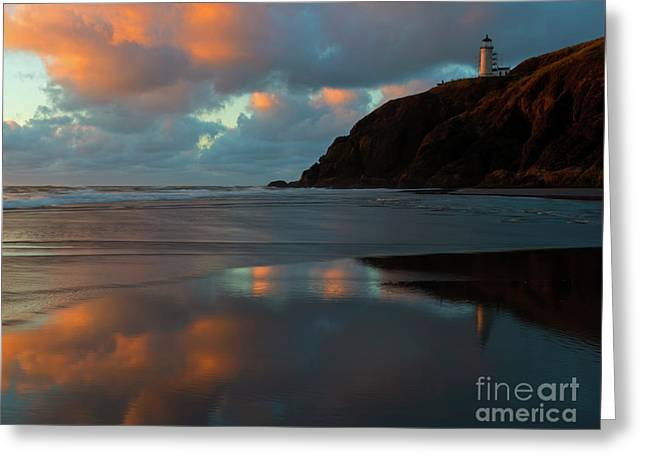 Sunset Light Reflections Greeting Card by Mike Dawson