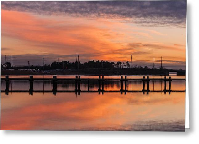 Sunset Lines Greeting Card by Kristopher Schoenleber