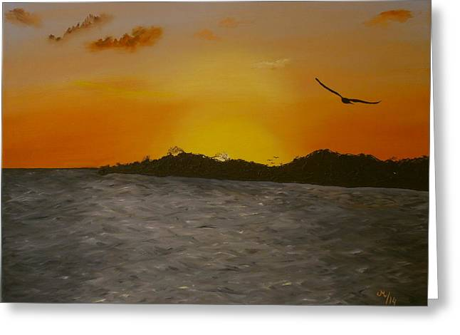 Sunset Posters Greeting Cards - Sunset Greeting Card by Maria Woithofer