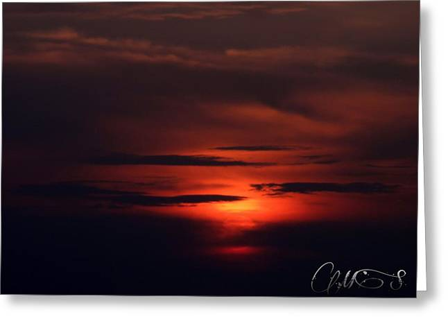 Gloaming Greeting Cards - Sunset Greeting Card by Marie  Stoffova