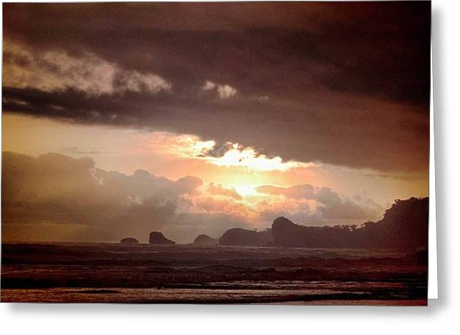 sunset Greeting Card by Mario Bennet
