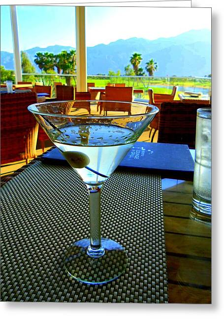 Al Fresco Greeting Cards - Sunset Martini Greeting Card by Randall Weidner