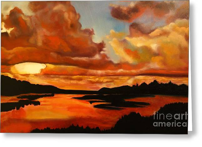 Sunset Greeting Card by Michael Kulick