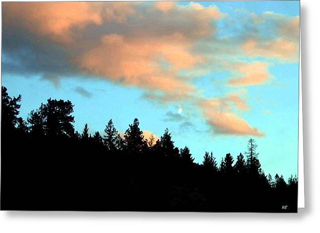 Magnificent Landscape Greeting Cards - Sunset Moon Greeting Card by Will Borden