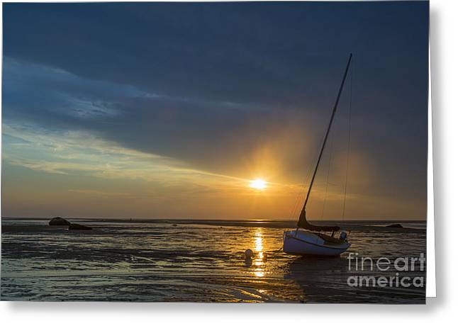 Cape Cod Greeting Cards - Sunset on Cape Cod Greeting Card by Diane Diederich