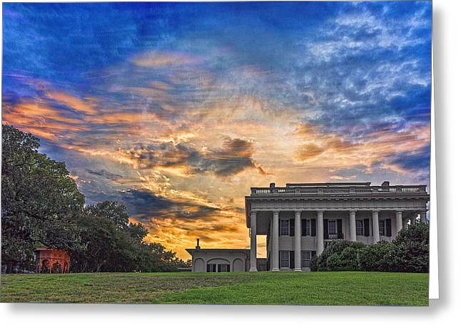 Hdr Look Digital Greeting Cards - Sunset on Coleman Hill - July 2015 Greeting Card by Doug Nurnberger