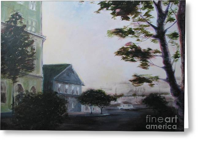 Eureka Paintings Greeting Cards - Sunset On G Street Greeting Card by Patricia Kanzler