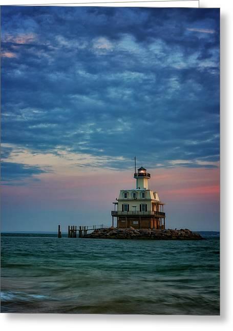 Sunset On Gardiners Bay Greeting Card by Rick Berk