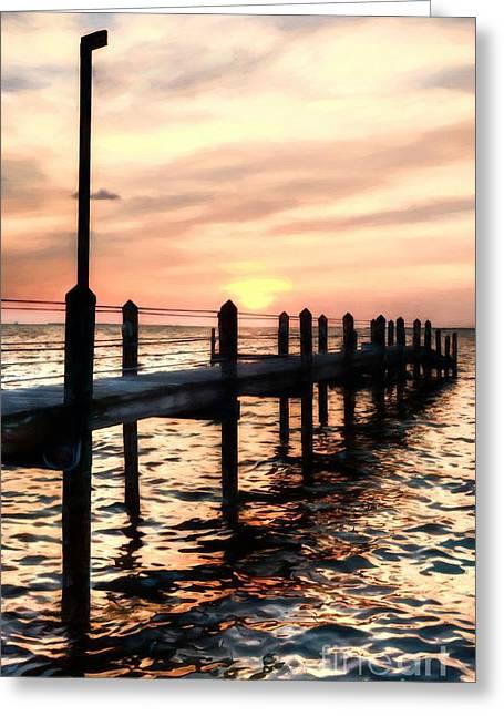 Sunset On Islamorada # 4 Greeting Card by Mel Steinhauer