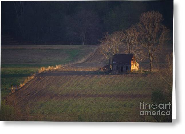 Sunset Greeting Cards Greeting Cards - Sunset on Kentucky Cabin Greeting Card by Lowell Anderson