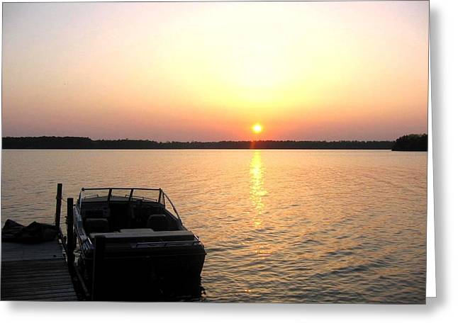 Manitoulin Greeting Cards - Sunset on Lake Kagawong Greeting Card by Jessica Tolemy