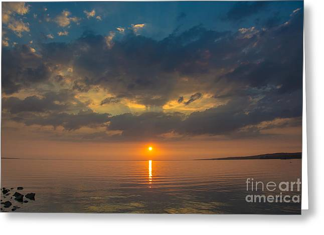 River View Greeting Cards - Sunset on Lake Nipissing Greeting Card by Cheryl Baxter